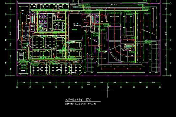 商业楼房电路布线图纸